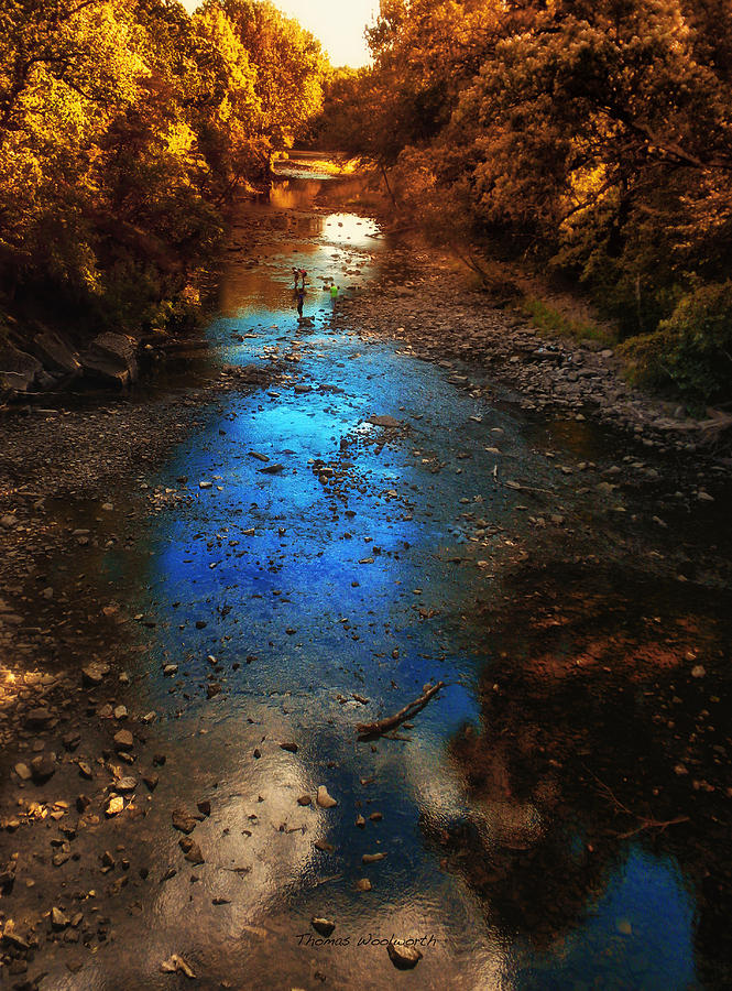 Kankakee Il Photograph - Autumn Reflections On The Tributary by Thomas Woolworth