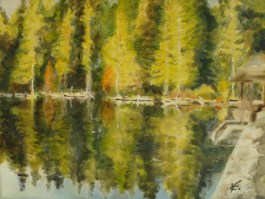 Trees Painting - Autumn Reflections by Veronica Coulston