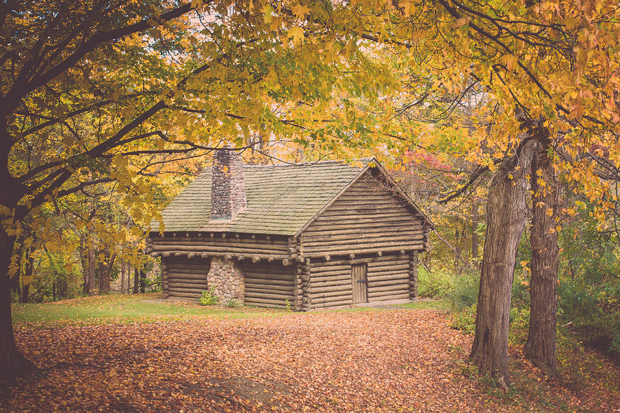 Cabin Photograph - Autumn Retreat by Sara Frank