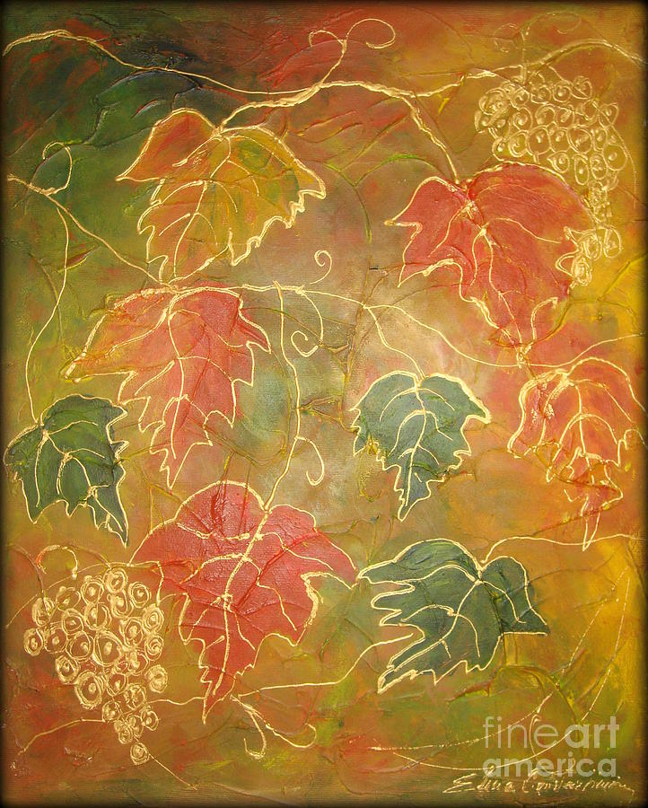 Leaves Painting - Autumn Rhapsody by Elena  Constantinescu