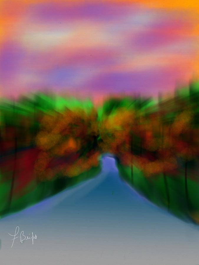 Autumn Leaves Digital Art - Autumn Road by Frank Bright