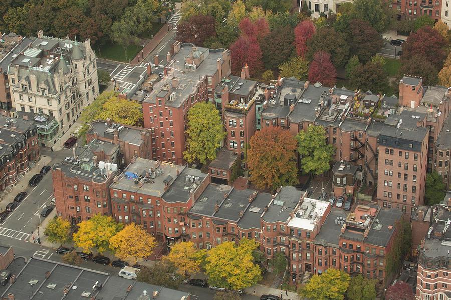 Boston Photograph - Autumn Rooftops Of Boston by Gordon  Grimwade