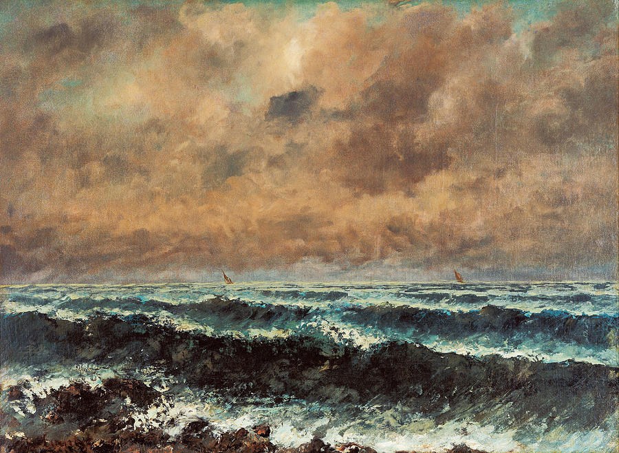Gustave Courbet Painting - Autumn Sea by Gustave Courbet