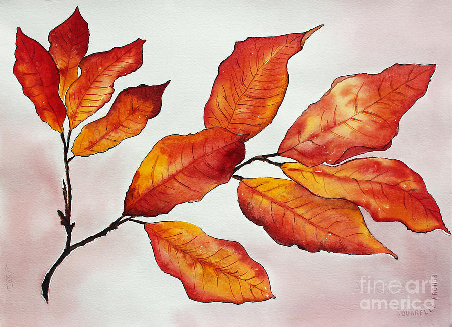 Branches Painting - Autumn by Shannan Peters