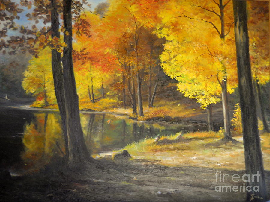 Nature Painting - Autumn Silence  by Sorin Apostolescu