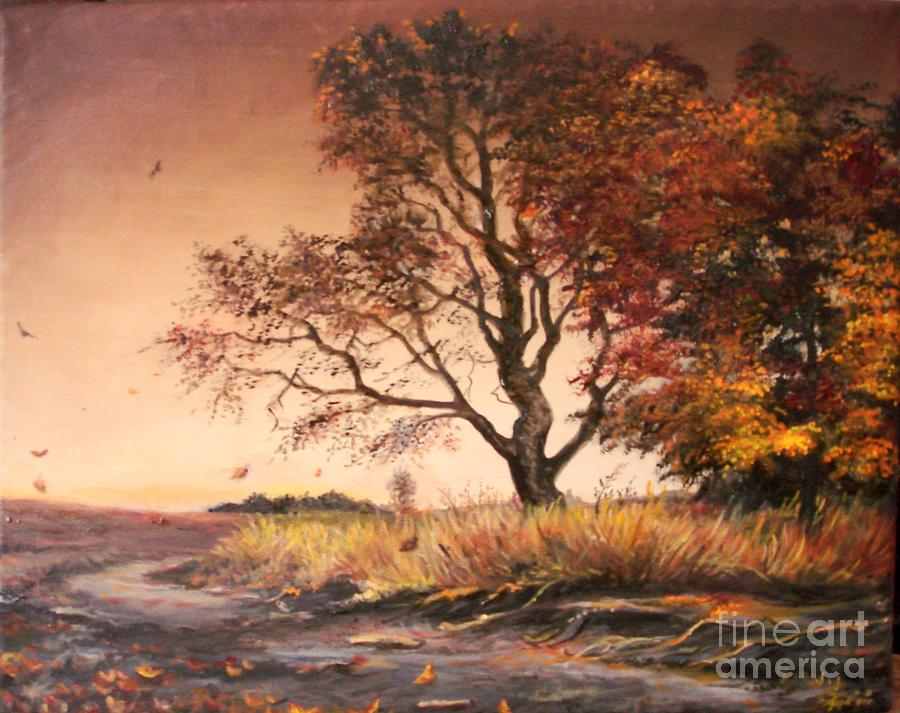 Tree Painting - Autumn Simphony In France  by Sorin Apostolescu