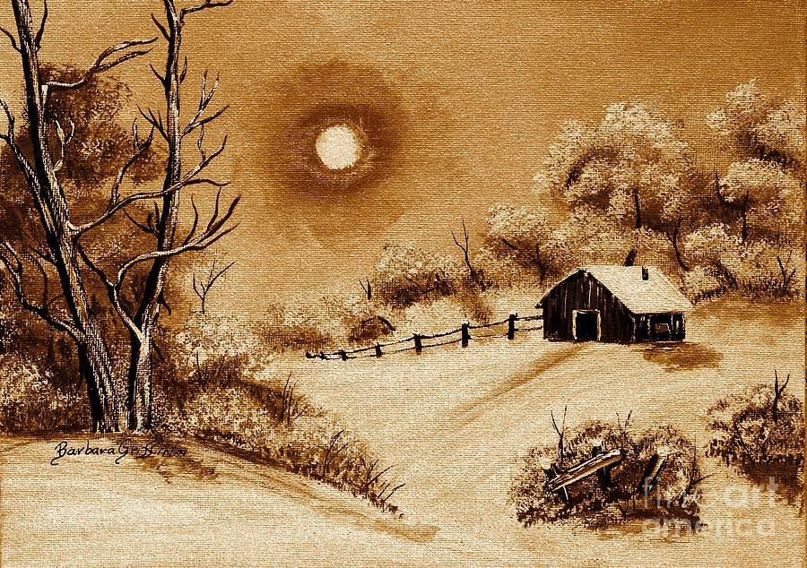 Autumn Snow Painting - Autumn Snow by Barbara Griffin
