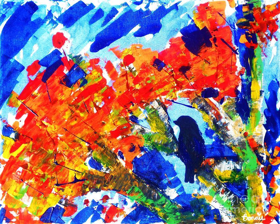 Nature Painting - Autumn Solitude  by Bonnie Cushman