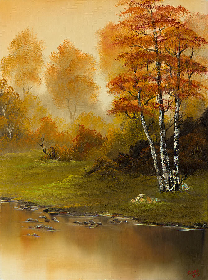 Landscape Painting - Autumn Splendor by C Steele
