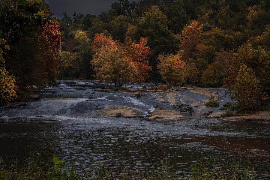 Water Falls Photograph - Autumn Splendor by Cindy Rubin