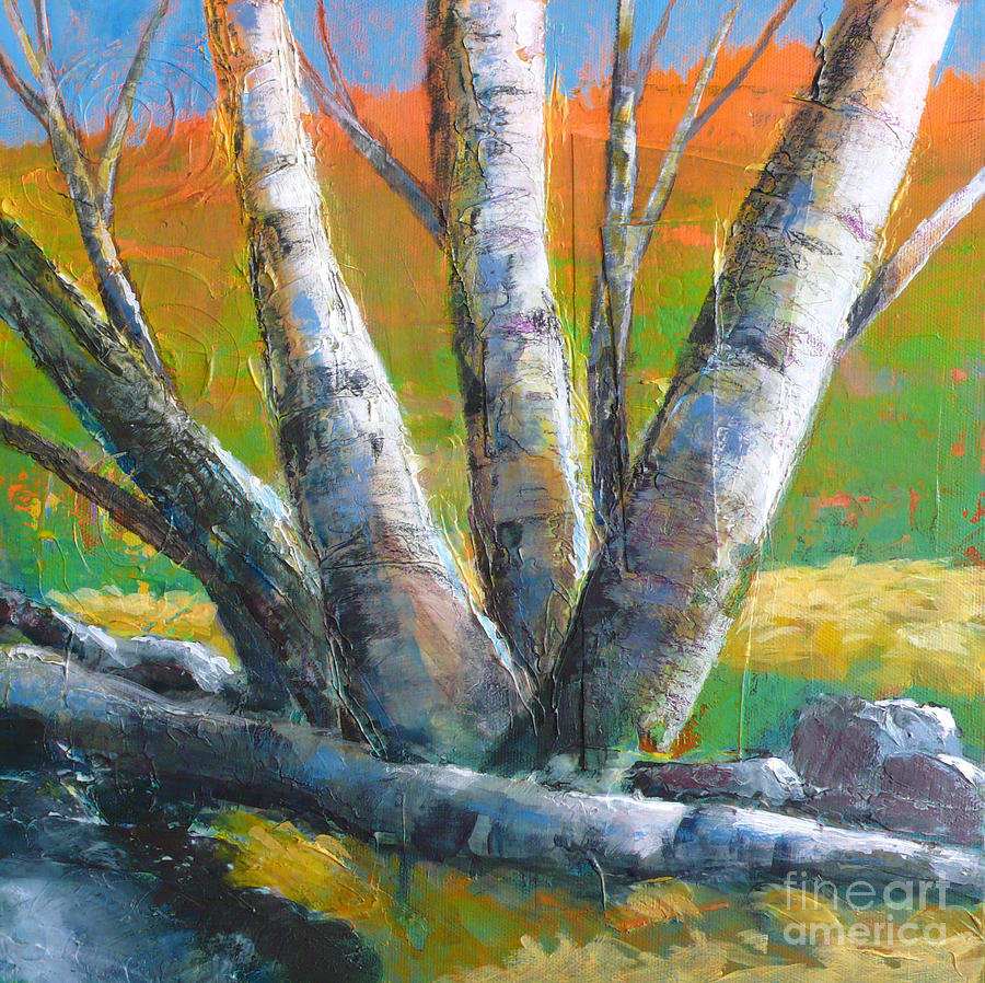 Tree Painting - Autumn Splendor by Melody Cleary