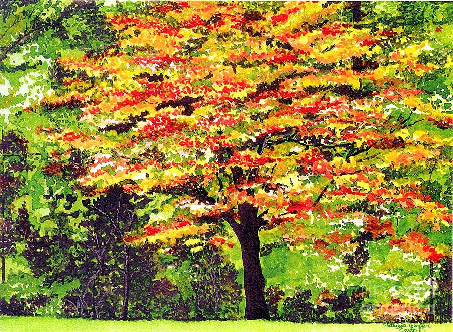 Watercolor Painting - Autumn Splendor by Patricia Griffin Brett
