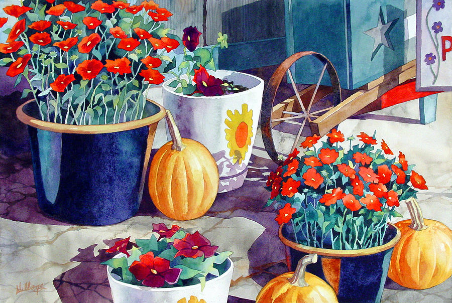 Flowers Painting - Autumn Still Life by Mick Williams
