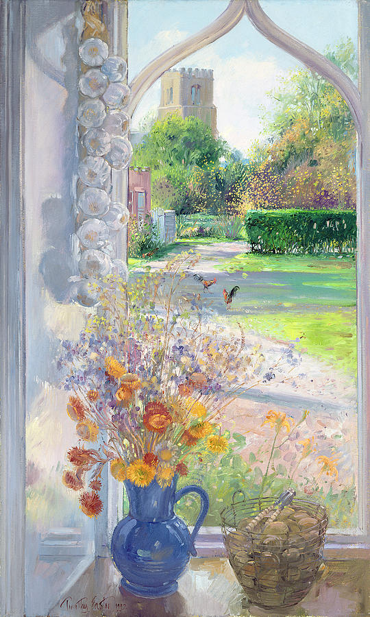 Garlic Painting - Autumn Still Life by Timothy Easton