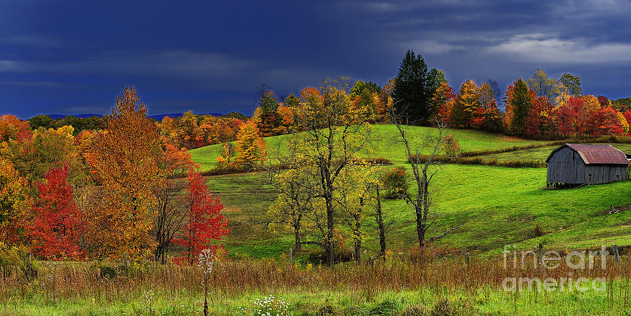Autumn Morning Photograph - Autumn Storm by Thomas R Fletcher