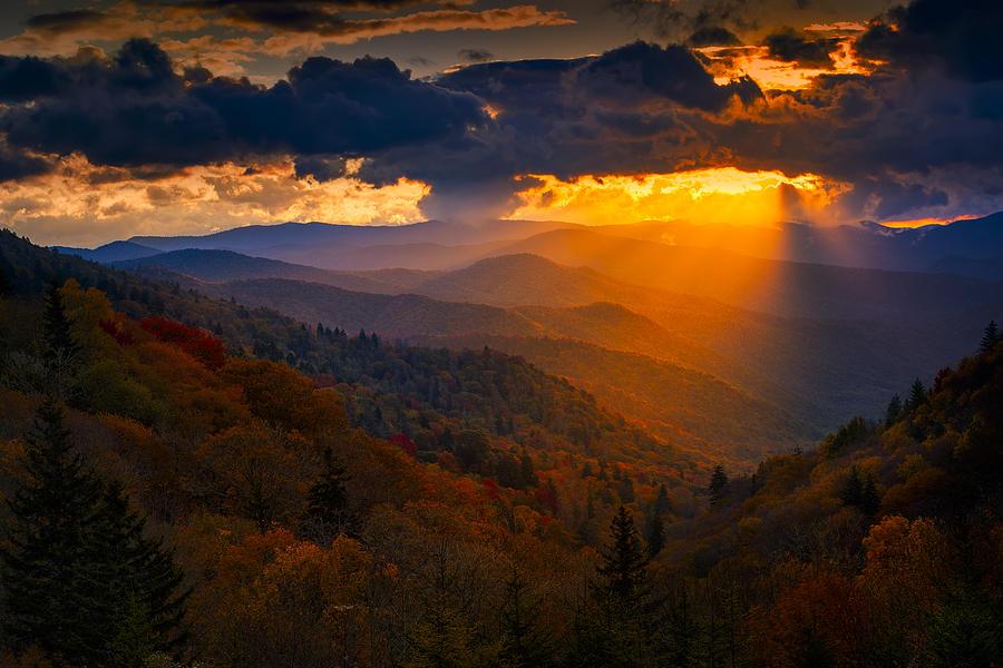 Autumn Sunrise In The Smokies Photograph By Dean Fikar