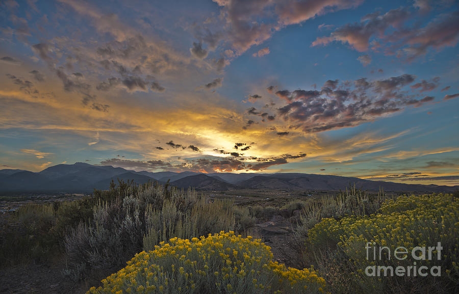 Sunset Photograph - Autumn Sunset by Dianne Phelps