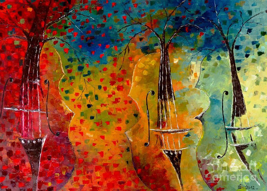 Autumn Painting - Autumn Symphony by Amalia Suruceanu
