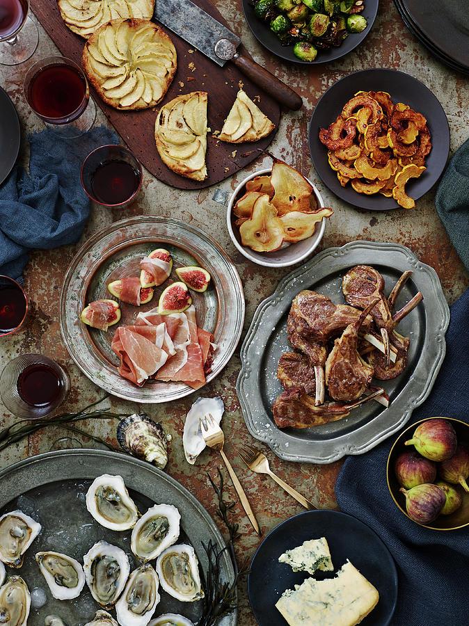 Autumn Table Spread Photograph by Alexandra Grablewski