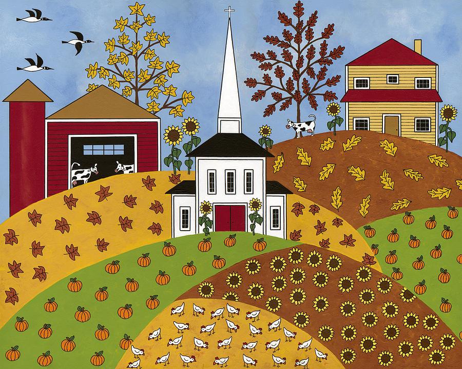 Autumn Painting - Autumn Tapestry by Medana Gabbard