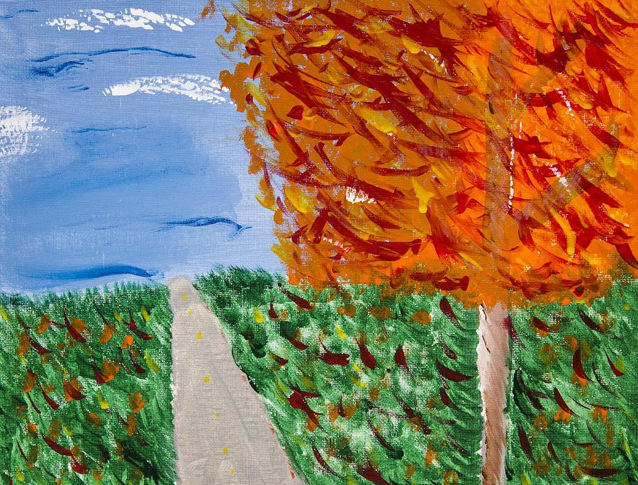 Autumn Painting - Autumn Tree by Melissa Dawn
