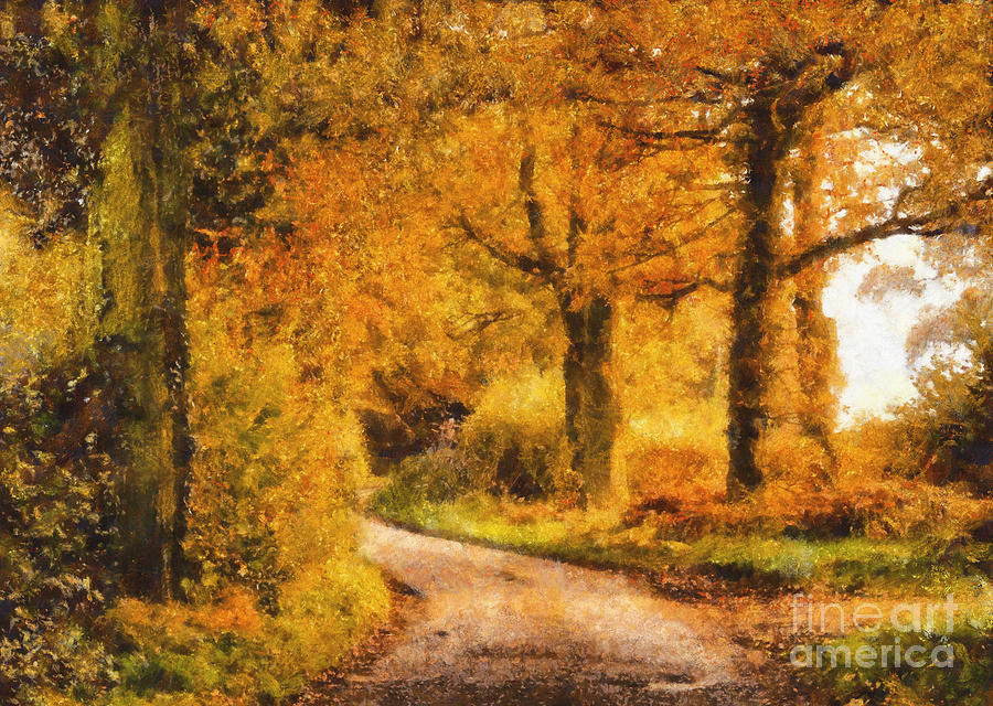 Tree Painting - Autumn Trees by Pixel Chimp