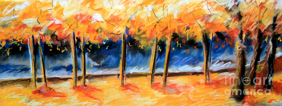 Trees Painting - Autumn Trees by Vanessa Montenegro