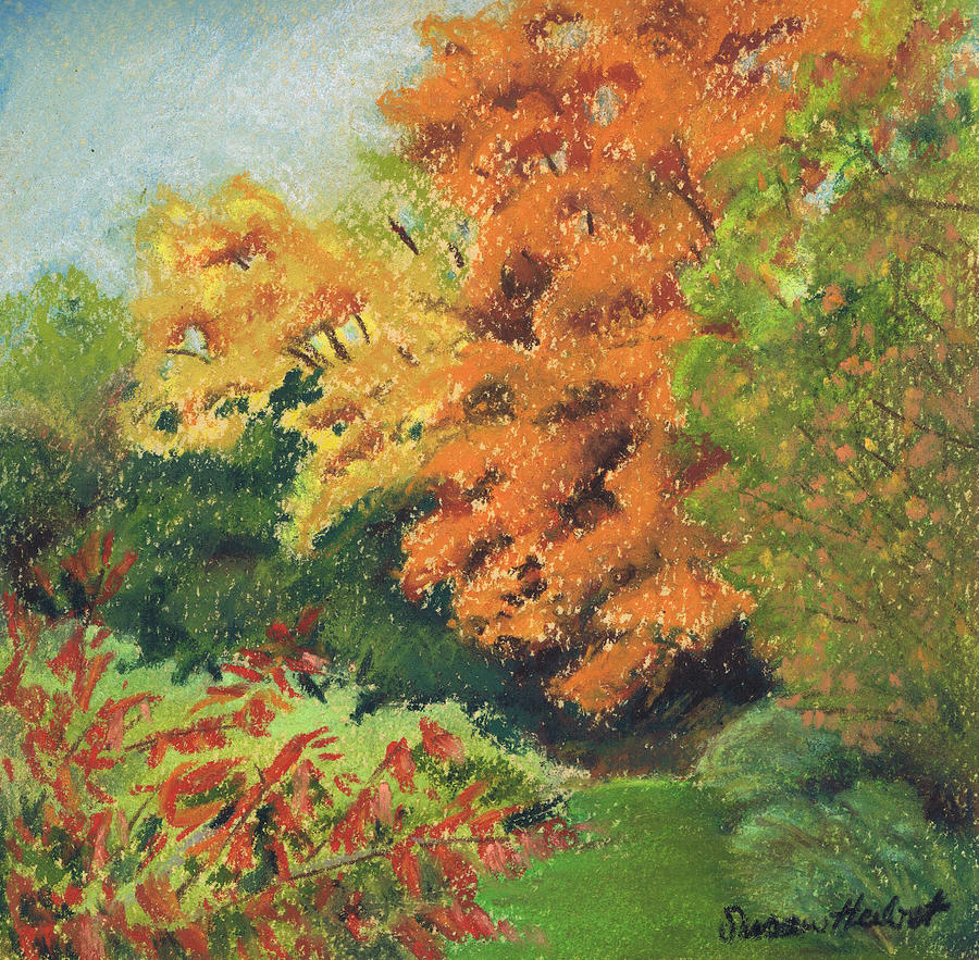 Autumn Painting - Autumn Uplands Farm by Susan Herbst