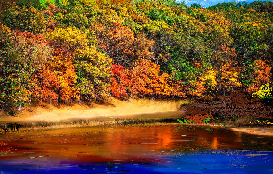 Autumn Vibrancy Over The Lake Painting