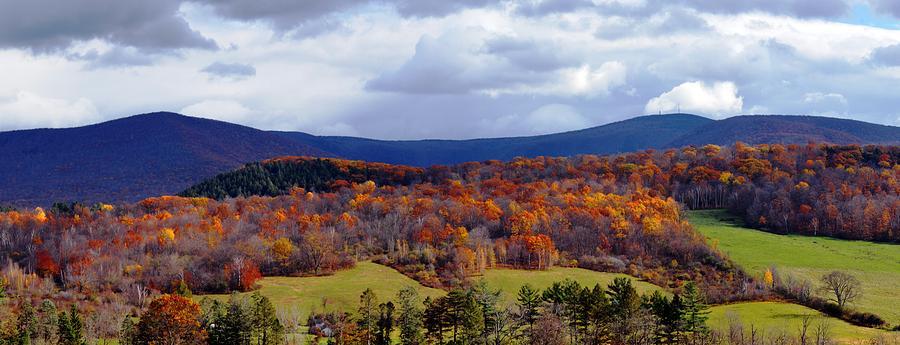Autumn Photograph - Autumn View Toward Mount Greylock by Geoffrey Coelho