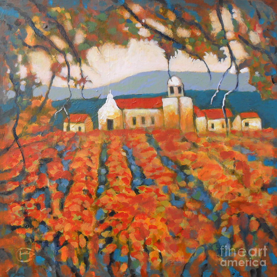 Napa Valley Painting - Autumn Vineyard by Kip Decker