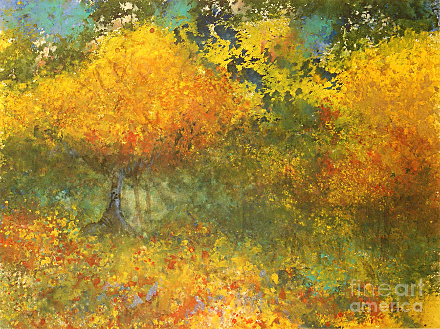 Watercolor Painting - Autumn Walk by Gwen Nichols