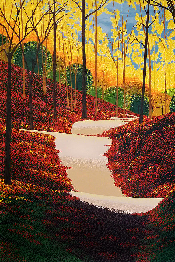 Autumn Painting - Autumn Walk by Michael Wicksted