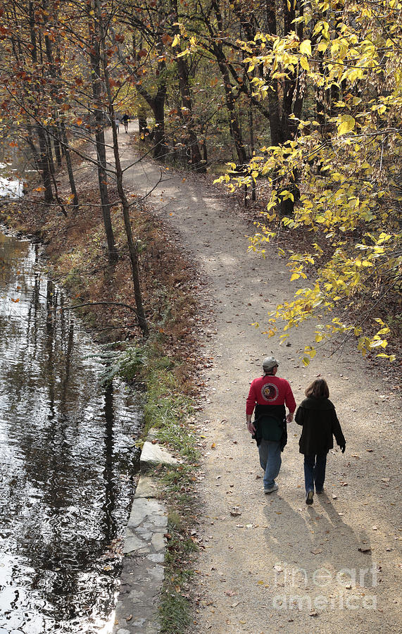 Canal Photograph - Autumn Walk On The C And O Canal Towpath by William Kuta