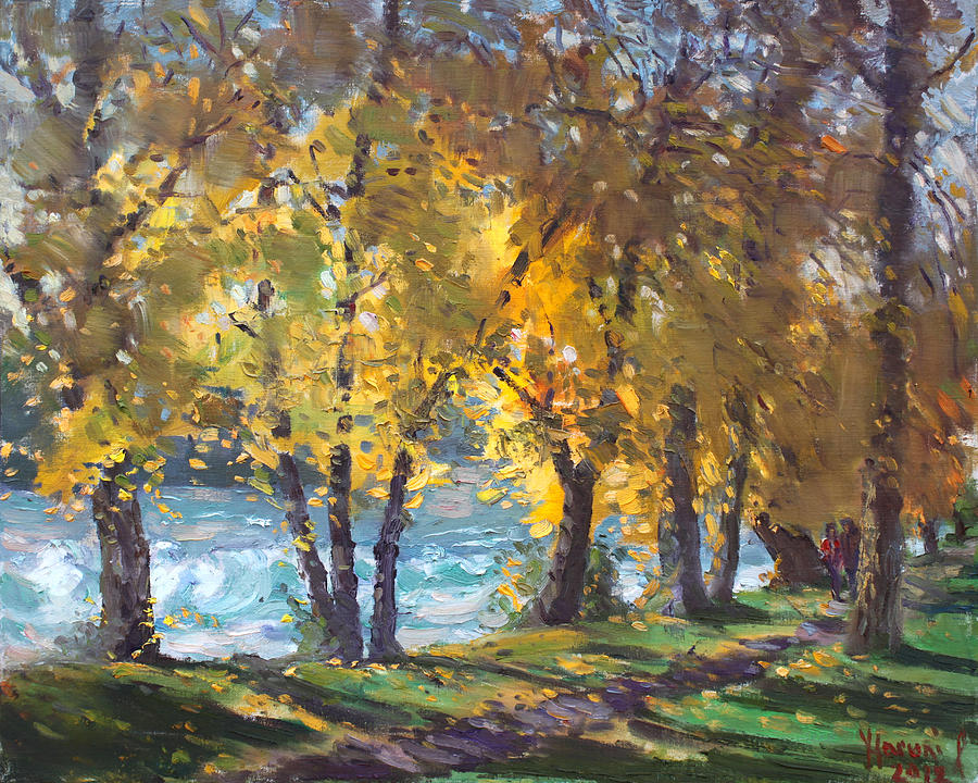 Autumn Painting - Autumn Walk by Ylli Haruni