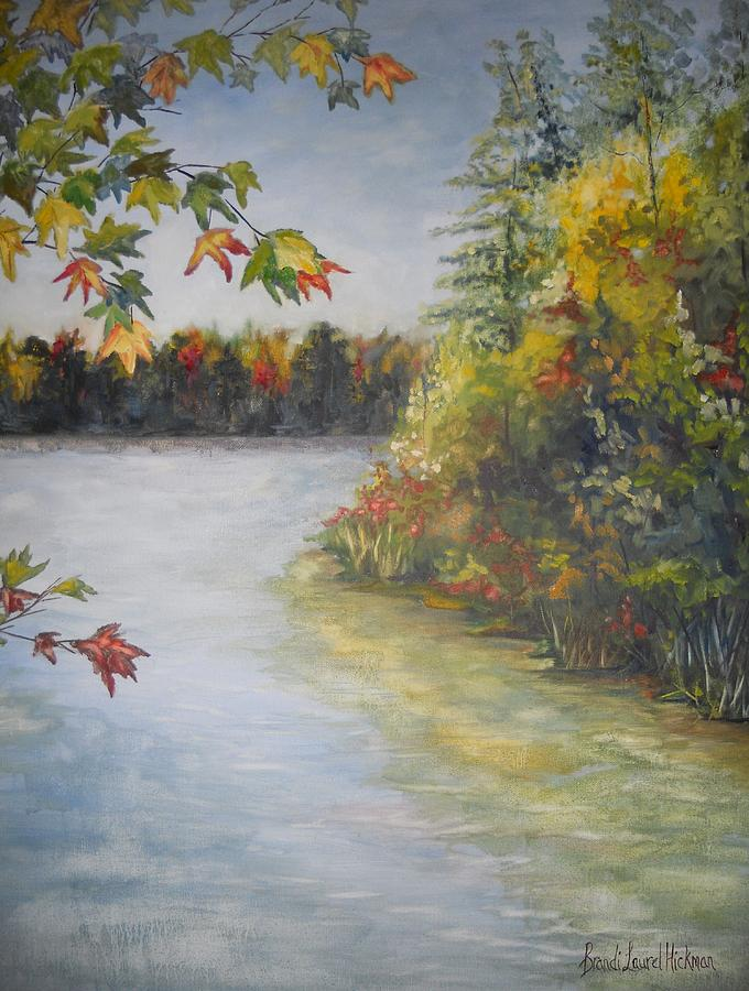 Lake Painting - Autumn Whispers by Brandi  Hickman