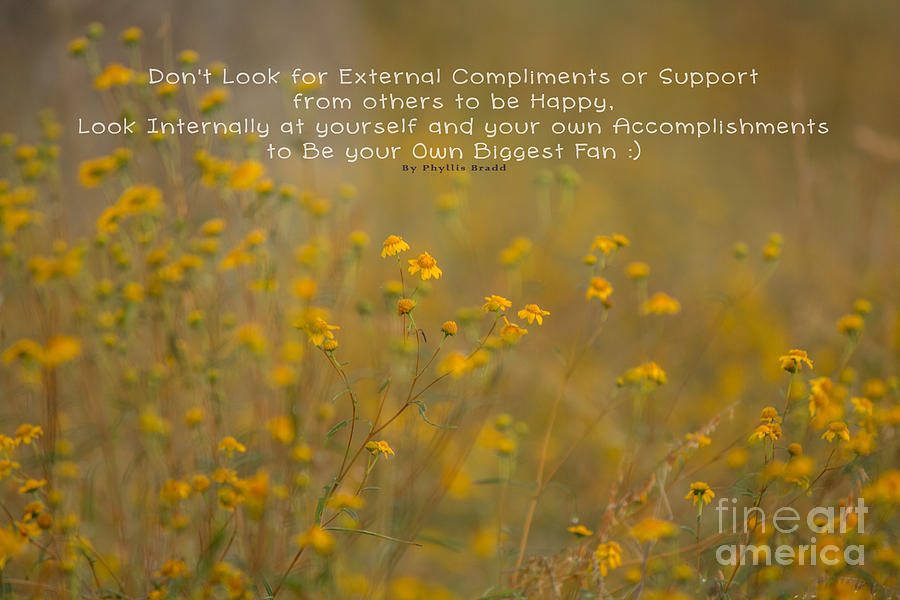 Nature Photograph - Autumn Wildflowers W Quote by Phyllis Bradd