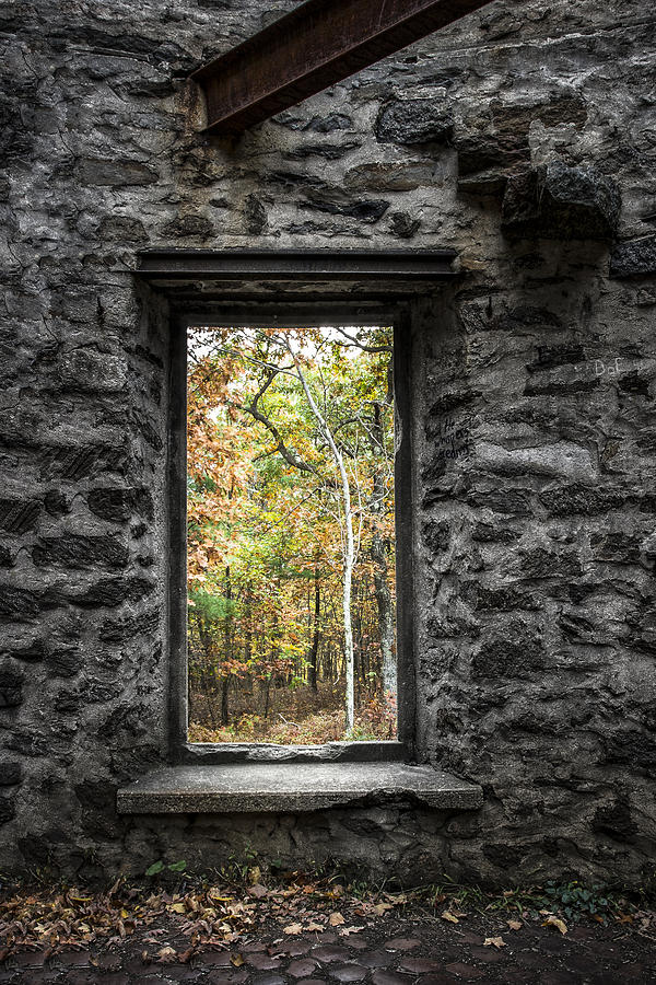 Abandoned Places Photograph - Autumn Within Cunningham Tower - Historical Ruins by Gary Heller