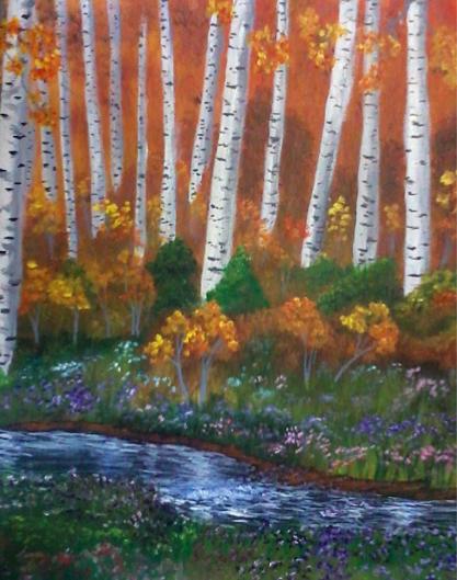 Autumn Painting - Autumn Woods by Jimmy Johnson
