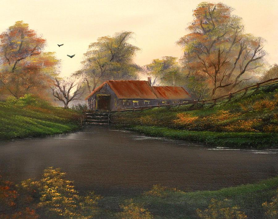Oils Painting - Autumnal Sunrise. by Cynthia Adams