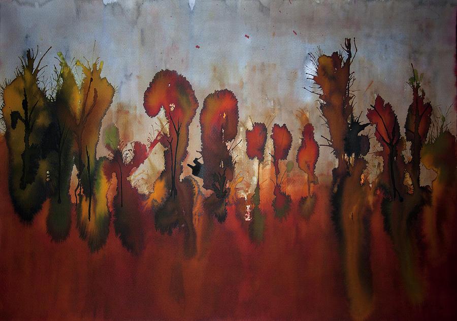 Landscape Painting - Autumno V by Laura Benavides Lara