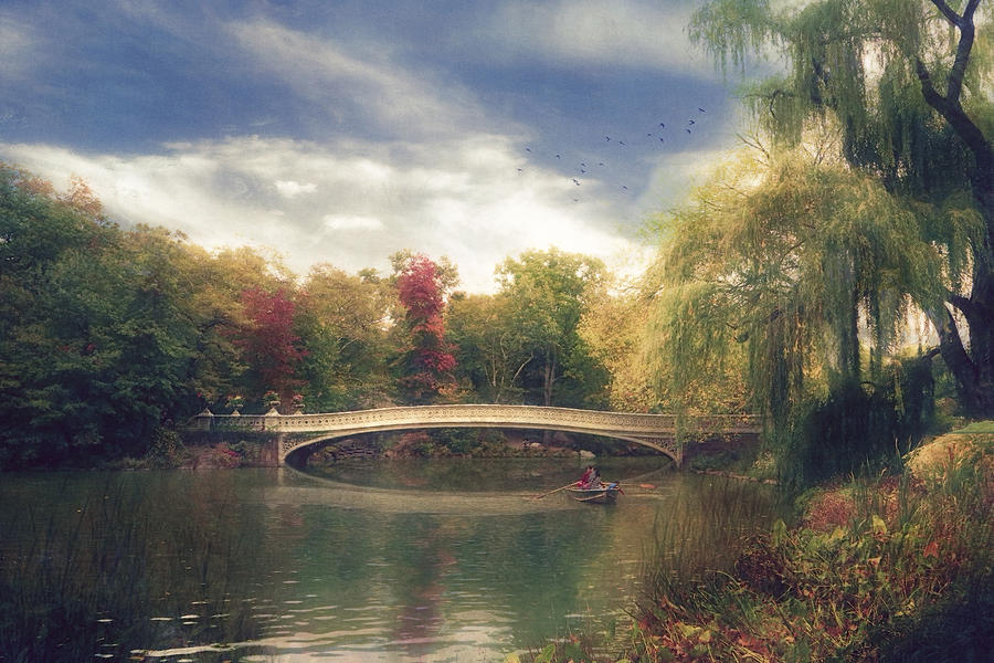 Central Park Photograph - Autumns Afternoon In Central Park by John Rivera