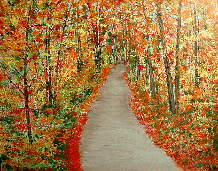 Autumns moment Painting by Marco Morales