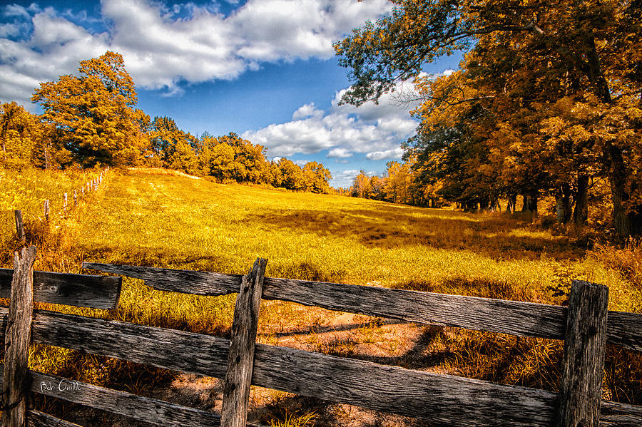 Mountain Photograph - Autumns Pasture by Bob Orsillo