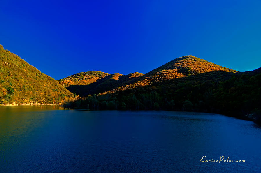 Autumn Photograph - Autunno Tramonto Sul Lago - Autumn Lake Sunset by Enrico Pelos