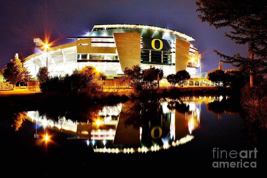 Autzen at Night by Michael Cross
