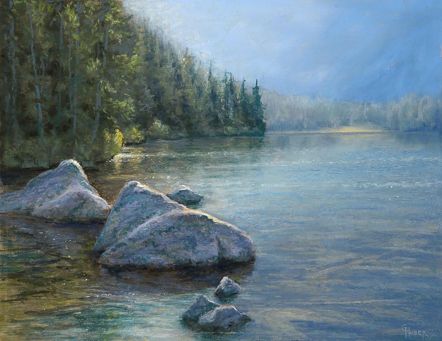 Pastel Painting - Avalanche Canyon by Gary Huber