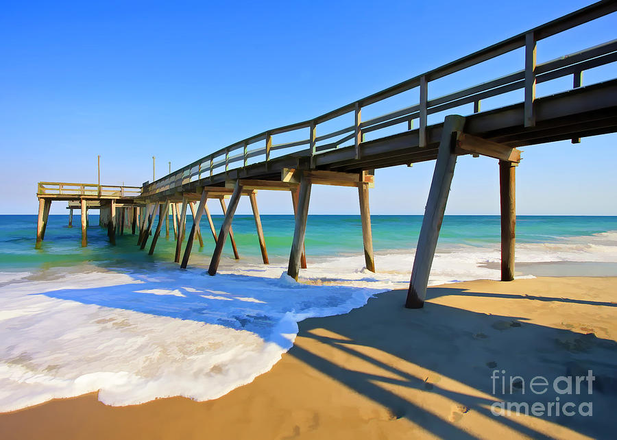 Ocean Photograph - Avalon Pier by Geoff Crego