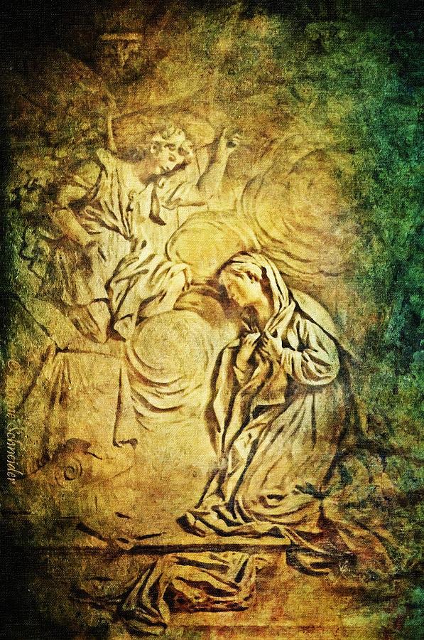 Chapel Digital Art - Ave Maria...gratia Plena by Lianne Schneider