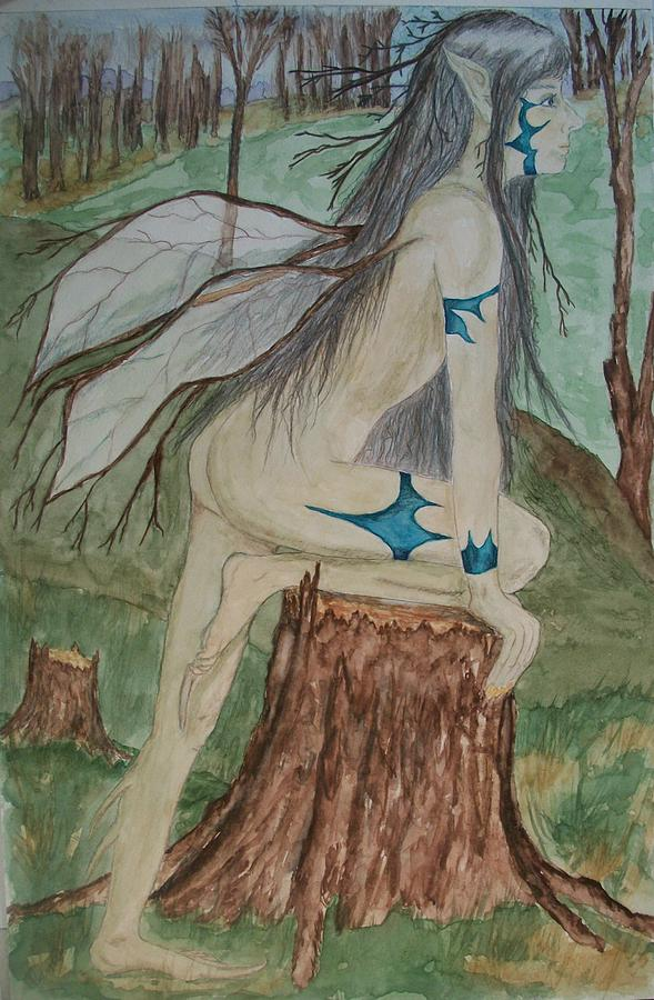 Woodland Fairy Painting - Avenger Of Trees by Carrie Viscome Skinner